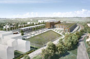Le futur atelier-garage à Massy-Palaiseau