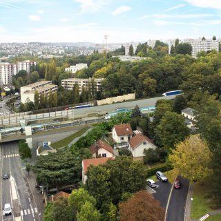 Future station Parc du Château à Morsang-sur-Orge