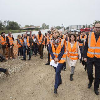 12 octobre 2019 : visite du chantier de Grigny par les maîtres d