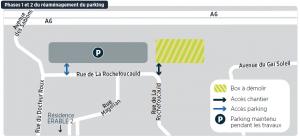 Phases 1 et 2 du réaménagement du parking de la copropriété ÉRABLE 2