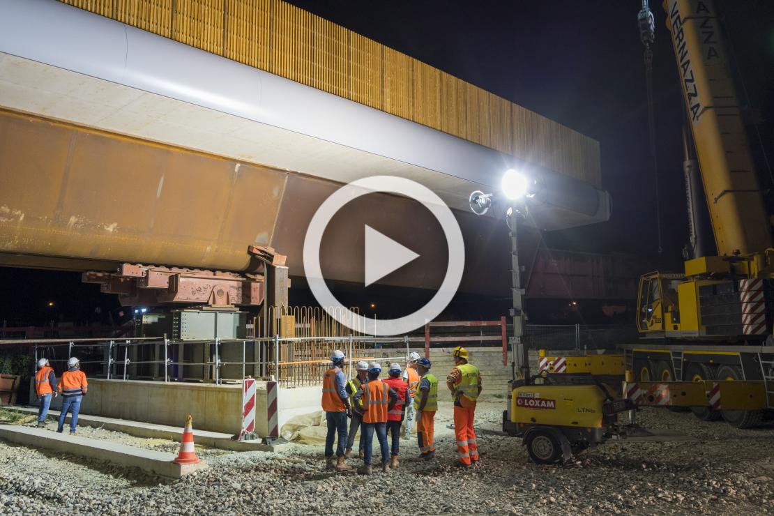 Visite sur les chantiers des ponts de Grigny et Ris-Orangis
