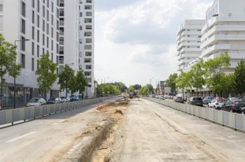 Les travaux dans le centre-ville d'Évry-Courcouronnes (2020-2021)