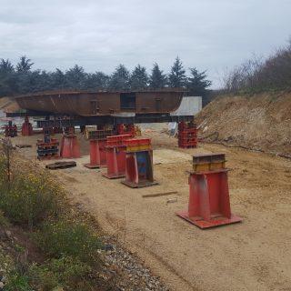 Caissons métalliques du pont d Évry-Courcouronnes, janvier 2020