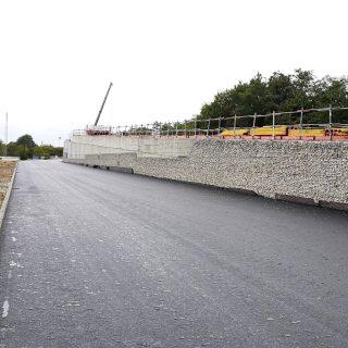 Construction des rampes du pont de Ris-Orangis, mars 2020