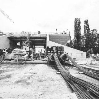 Ripage du pont-rail vers son emplacement final