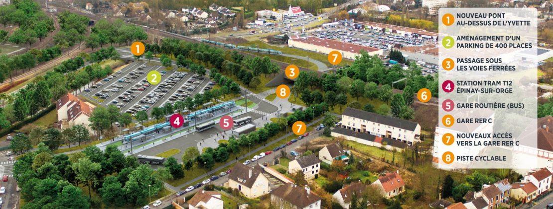 Épinay-sur-Orge : construire un pôle d'échanges multimodal