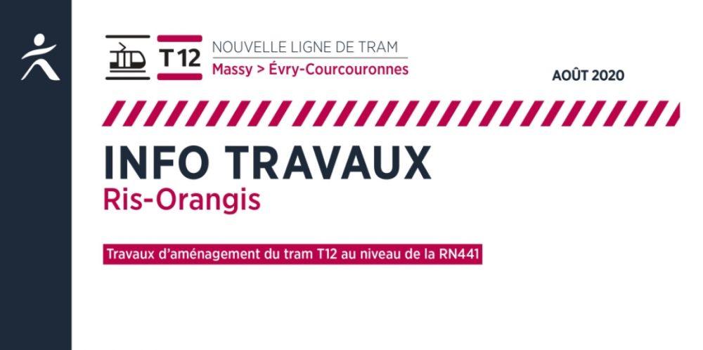 Les travaux au niveau de la RN441, à Ris-Orangis (août 2020)