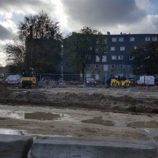Le chantier de la rue de la Grande Borne, en novembre 2019