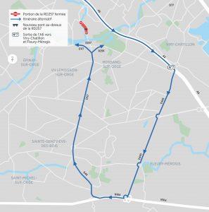 Itinéraire alternatif conseillé pour les véhicules dont la hauteur dépasse 3,70 mètres.
