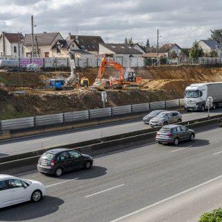 Construction du mur de soutènement entre Morsang et Viry-Chatillon