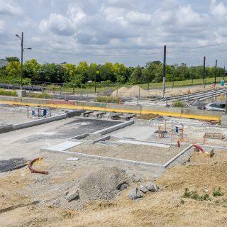 Construction de la plateforme Chemin du Plessis à Grigny