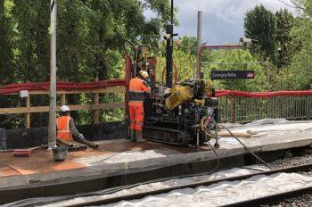 Les travaux d'aménagement en gare de Gravigny-Balizy