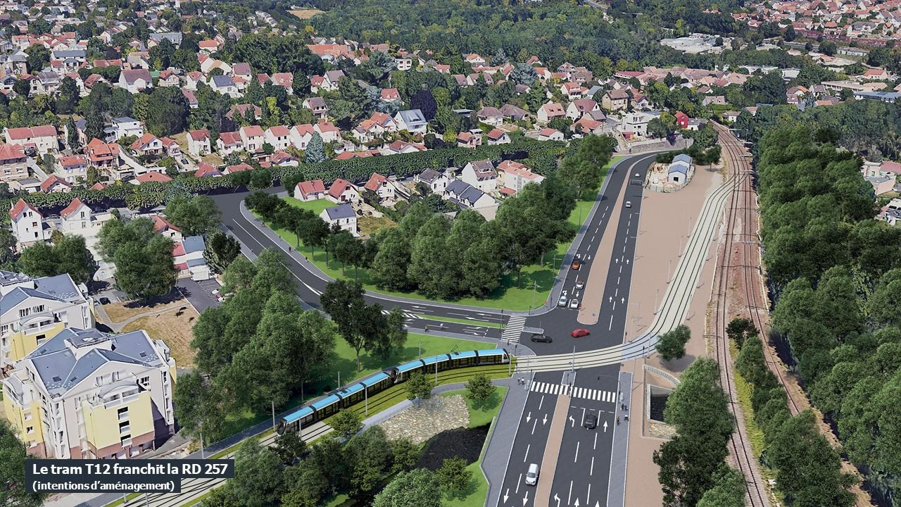 La zone de débranchement entre le réseau ferré et le réseau urbain à Epinay-sur-Orge
