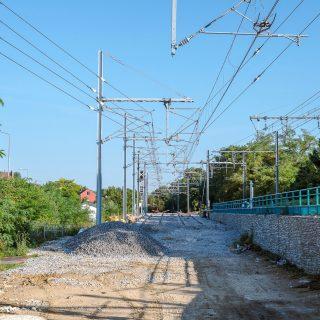 Zone de débranchement à Epinay-sur-Orge permettant au tram T12 d